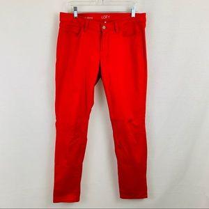 LOFT red curvy skinny jeans, size 29/8